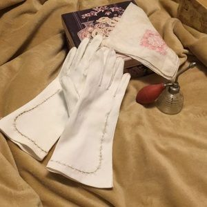 Vintage Longer Cut-out Gloves